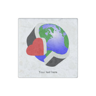 Earth Day Environmental Protection Stone Magnets