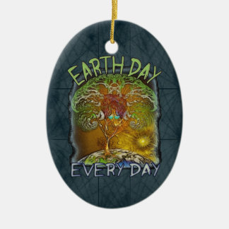 Earth Day Every Day Personalized Ceramic Ornament