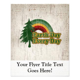 Earth Day Every Day, Retro Rainbow Flyer