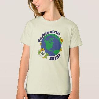 Earth Day Fashionista Mini Planet Design T-Shirt