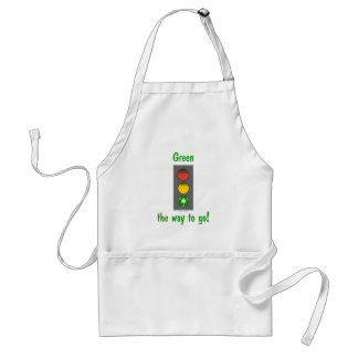 Earth day gear: Green the way to go tees and more. Standard Apron