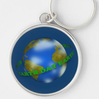 Earth Day Globe Keychain
