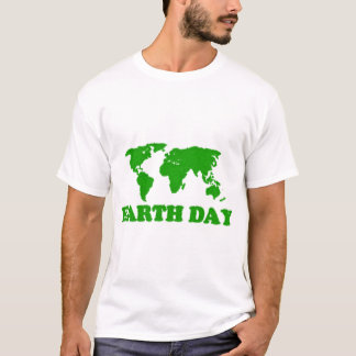 Earth Day Grass Map Singlet T-Shirt