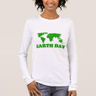 Earth Day Grass Map Women Long Sleeve T-Shirt