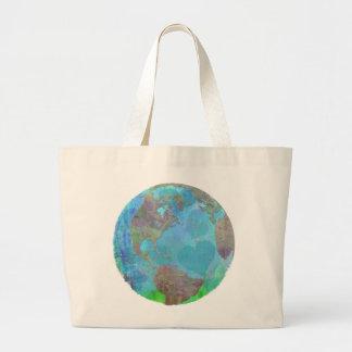 EARTH DAY GREEN SAVE THE ENVIRONMENT TOTE JUMBO TOTE BAG