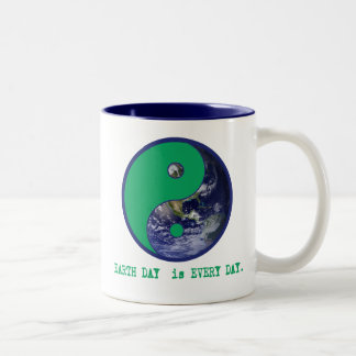Earth Day is Every Day Yin Yang Tshirts, Mugs