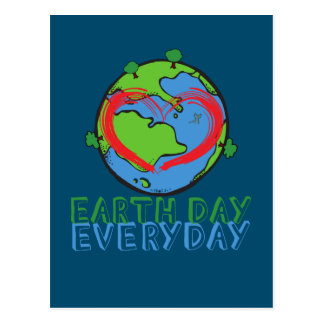 Earth Day: Keep Mother Nature Green & Recycled Postcard