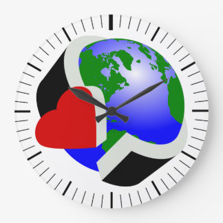 Earth day large clock