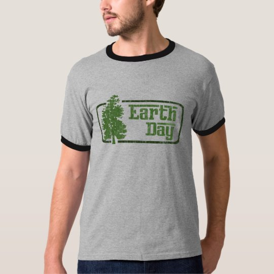Earth Day Mens Ringer T-Shirt
