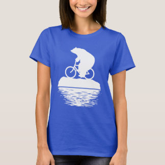 EARTH DAY: Polar Bear Bicycle Women's Tshirt