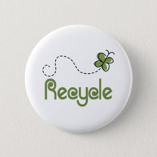 Earth Day Recycle T-shirt 2 Inch Round Button