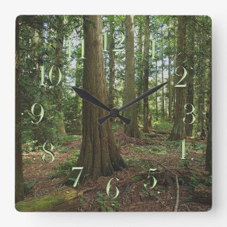 Earth Day Scenic Forest Nature-lovers Clock