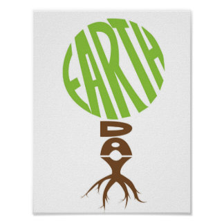 Earth day, tree shape poster