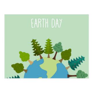 Earth Day - Trees Around The Globe Postcard