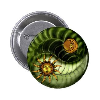 Earth Day Yin Yang Button