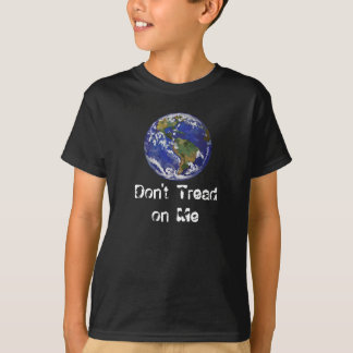 Earth Don't Tread on Me Kids Dark T-Shirt