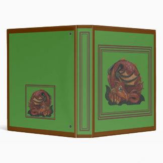 Earth Dragon big eye fantasy art Binder Folder