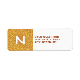 EARTH Element Contours Pattern Return Address Label