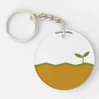 Earth element Double-Sided round acrylic keychain