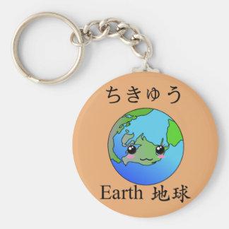 Earth emoji keychain