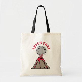 Earth Fart Volcano Budget Tote Bag