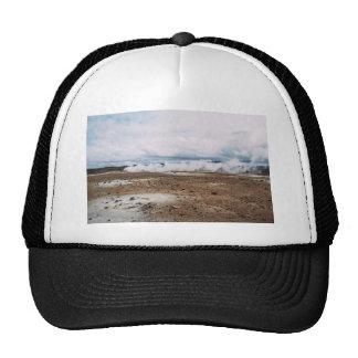 earth fart white haze desert under cloud trucker hat