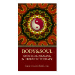 Earth Fire Mandala YinYang New Age Business Cards