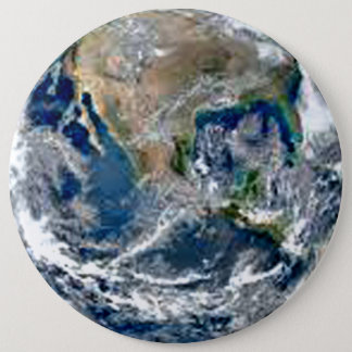 Earth First 6 Inch Round Button