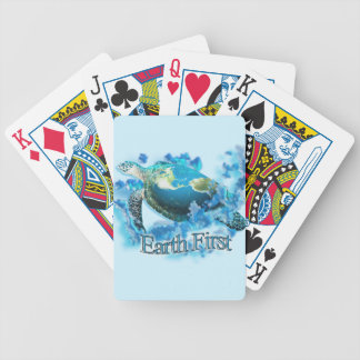Earth First Bicycle Playing Cards