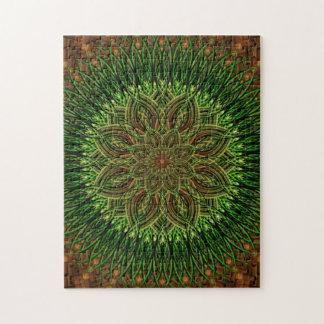 Earth Flower Mandala Jigsaw Puzzle