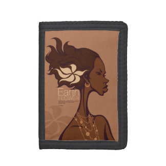 EARTH FLOWER TRI-FOLD WALLET
