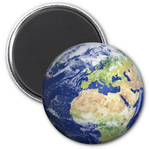 Earth Fridge Magnet #2 -  Europe/Africa