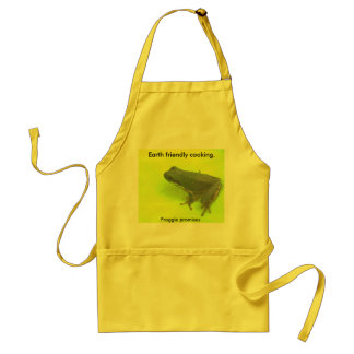 Earth friendly cooking. standard apron