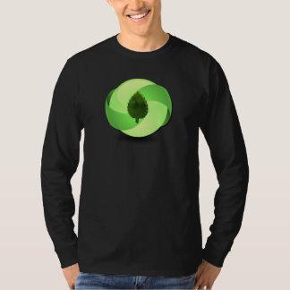 Earth Friendly Long Sleeve Black T-Shirt