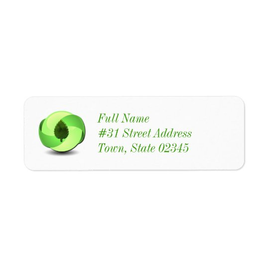 Earth Friendly Return Address Label