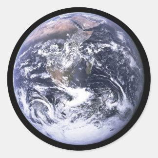 Earth from Apollo 17 Classic Round Sticker