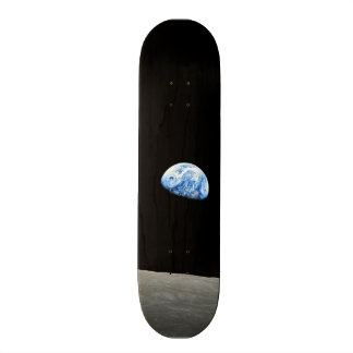 earth from moon space universe skateboard deck