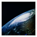 Earth from Satellite 3 Poster