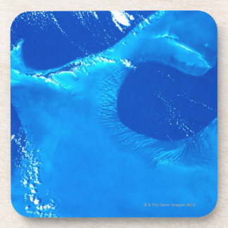 Earth from Satellite 4 Beverage Coaster