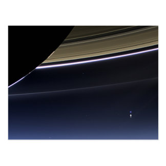 Earth from Saturn Postcard