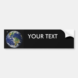 Earth from space bumper sticker