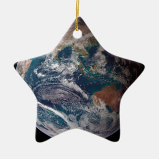 Earth From Space Ceramic Star Ornament