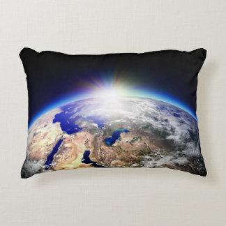 Earth from space decorative pillow