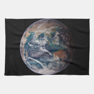 Earth From Space Kitchen Towel