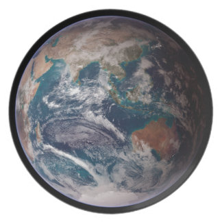 Earth From Space Party Plate