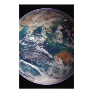 Earth From Space Personalized Stationery