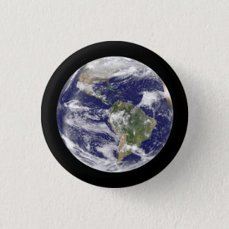 Earth from Space Photographic Round Globe 1 Inch Round Button