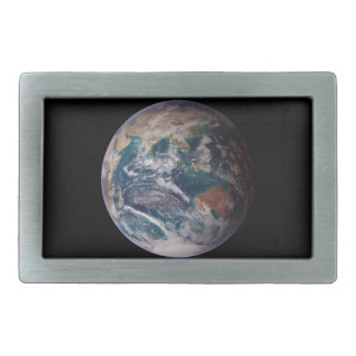 Earth From Space Rectangular Belt Buckles