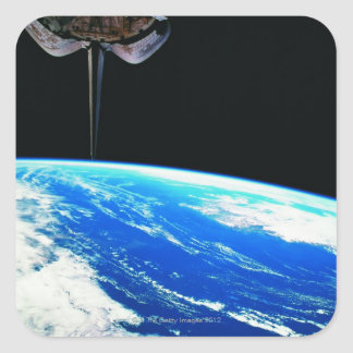 Earth from Space Shuttle 4 Square Sticker