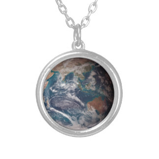 Earth From Space Silver Plated Necklace